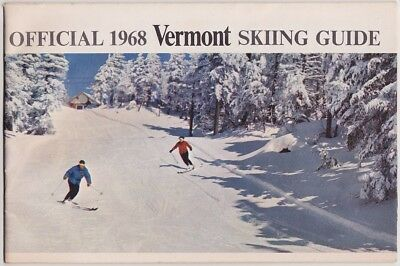 1968 Official Vermont Skiing Guide Booklet