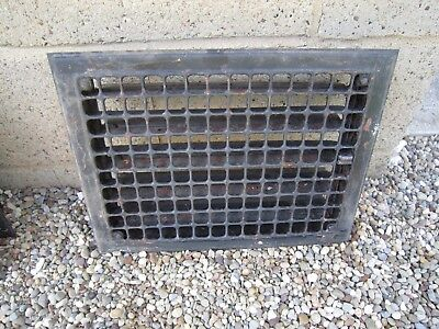 "Vintage Craftsman Style STEEL HEAT GRATE VENT REGISTER 10"" x 14"" Opening VGUC"