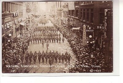 Two Real Photos ! Legion National Convention, St. Paul, Minnesota, 1924 !
