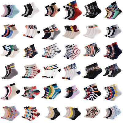 5 Pares/Pack Hombre Mujer Calcetines Algodón Suave Barco Deportivo Casual Socks