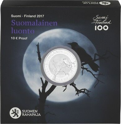 """2017 Finland 10 Euro Silver Proof Coin """"Finnish Nature"""""""