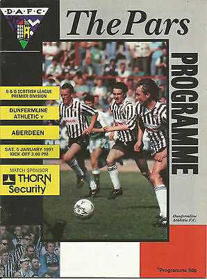 1990/91 League January Dunfermline v Aberdeen
