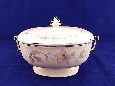 Vintage Limoges Peach-Blo Silver Moon Compote w/Lid/Ex.Cond./Sebring,OH/ #2