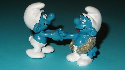 Smurf Congratulations & Champion Smurfs Together 1979 lot Display Vintage Rare