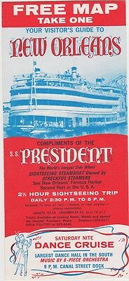 1960's S.S. President Steamboat Cruise Tours Brochure