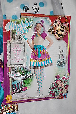 Girls EVER AFTER HIGH Halloween Costume MADELINE HATTER Purple Turquoise M 8-10
