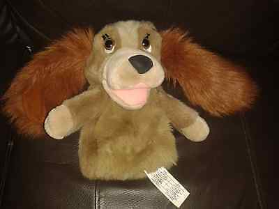 """Disney LADY AND THE TRAMP Lady 10"""" Puppet The Disney Store VGC & FREE P&P"""