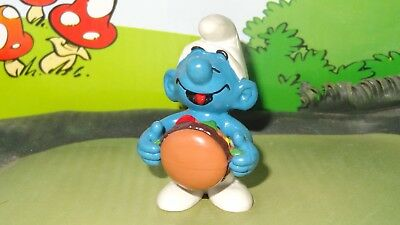 Smurfs Hamburger Smurf Classic Vintage Display Figurine 1983