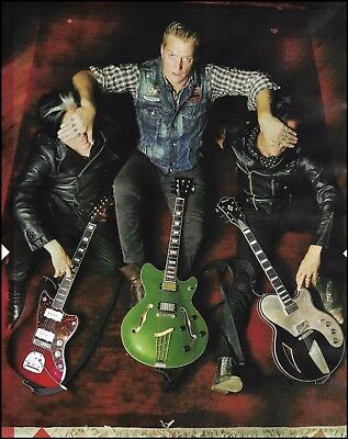 Queens of the Stone Age (band) John Homme Echopark Guitar 8 x 11 pinup photo