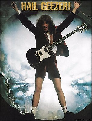 AC/DC Angus Young with Gibson SG Guitar 8 x 11 color Hail Geezer pin-up photo
