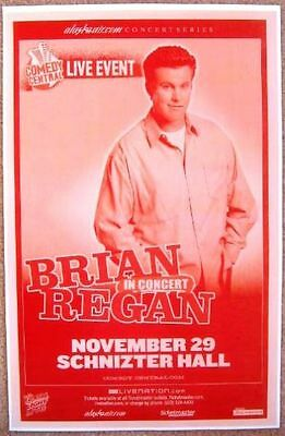 BRIAN REGAN 2007 Gig POSTER Comedy Portland Oregon
