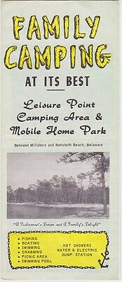 1960's Leisure Point Campground Millsboro Delaware Brochure