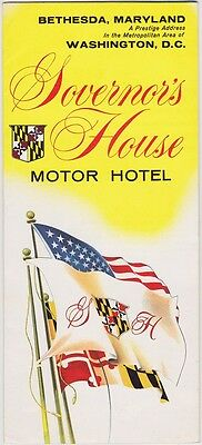 1960's Governor's House Hotel Bethesda MD Brochure