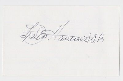 """Fred Hansen 1964 Olympic Gold Medalist Auto Dual Signed 3""""x5"""" Index Card Jsa"""