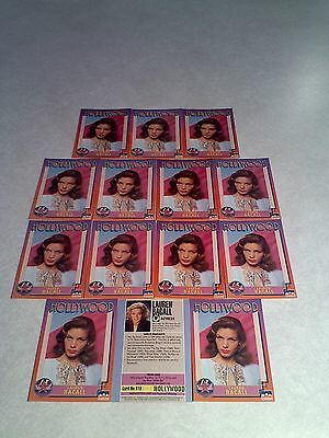 *****Lauren Bacall*****  Lot of 14 cards / Hollywood Walk of Fame