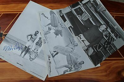 Vintage Surfing Autographed Bud Browne Don Hansen Mike Doyle - Poster Lot of 3