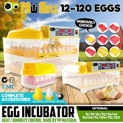 Egg Incubator Fully Automatic Digital LED Hatch Turning Chicken Duck Poultry