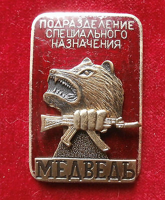 "Russian sign ""Group of special troops Bear"""