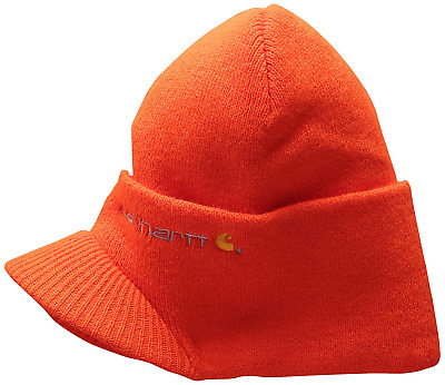 a33cacd9898 CARHARTT WINTER HAT with Visor - Bright Orange CHA164BOG Mens Beanie ...