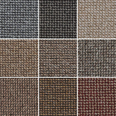 Cheap Textured Loop Pile Carpet Hardwearing Felt Backed Bedroom, Hall, 4m & 5m