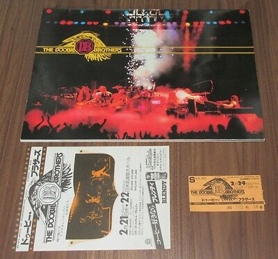 with TICKET STUB & PROMO flyer! THE DOOBIE BROTHERS 1979 JAPAN tour book OTHERS