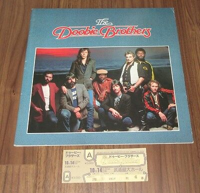 with TICKET STUB! THE DOOBIE BROTHERS 1981 JAPAN tour book OTHERS LISTED too!