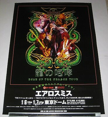 AEROSMITH Japan PROMO ONLY 73 x 51 cm TOUR POSTER official 2000 - more listed