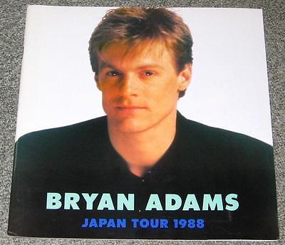 BRYAN ADAMS rare JAPAN tour book - 1988 - others available/combined shipping OK