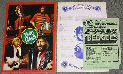 THE BEE GEES Japan tour book + PROMO  FLYER + INSERT 1972 rare set - MORE listed