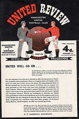 1957/58 A Complete Set Of Manchester United Homes All In Very Good Condition