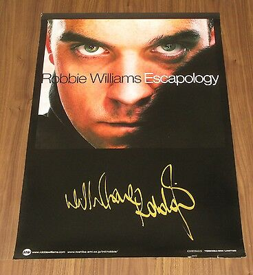 ROBBIE WILLIAMS Japan PROMO ONLY 72 x 51 cm POSTER not mint TAKE THAT Escapology