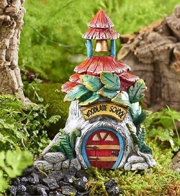 Mini World Woodland Forest School House Building Fairy Garden Figurine 700344