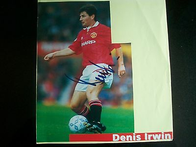 DENIS IRWIN   Manchester United Player   Signed