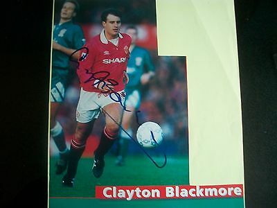 CLAYTON BLACKMORE   Manchester United Player   Signed