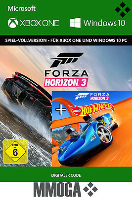 Forza Horizon 3 III + Hot Wheels DLC Key - Xbox One & Windows 10 PC Code [EU/DE]