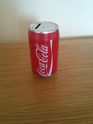 COCA-COLA SAVINGS TIN  PIGGY BANK COKE CAN MONEY BOX TIN,NEW stocking fillers??