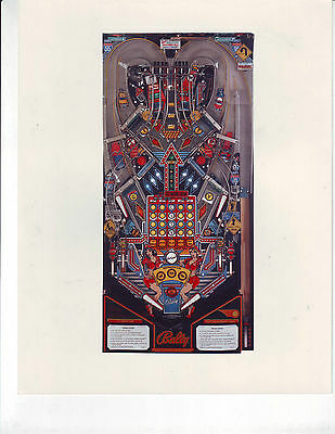 TRUCK STOP By BALLY 1988 ORIGINAL PINBALL MACHINE NOS COLOR PROMO PRESS PHOTO #1
