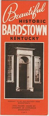 1947 Bardstown Kentucky Promotional Brochure