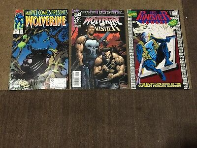 Wolverine Punisher Comic Book Lot 3 Total