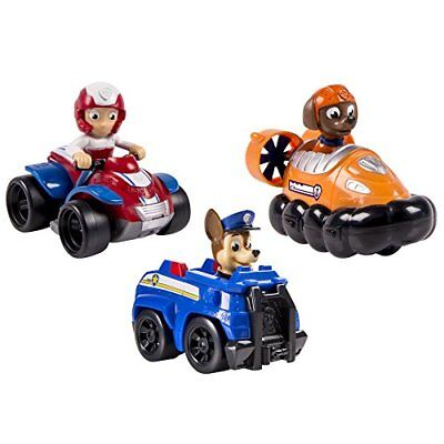 NEW Paw Patrol Chase/Zuma/Ryder Rescue Racers Vehicle 3 Pack Set - Multi-Color