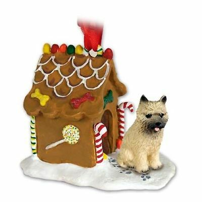 Cairn Terrier Red Dog Ginger Bread House Christmas ORNAMENT