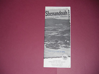 Vintage 1952 Shenandoah National Park Virginia Brochure Pamphlet Map