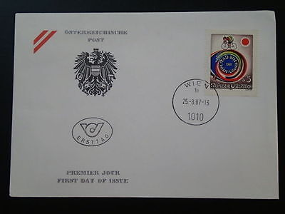 bicycle cycling by Gottfried Kumpf FDC Austria 67121
