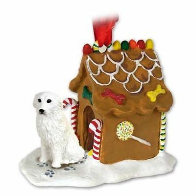 Great Pyrenees Dog Ginger Bread House Christmas ORNAMENT