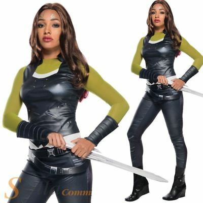 Ladies Gamora Costume Guardians Of The Galaxy 2 Fancy Dress Outfit
