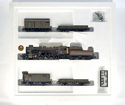 Vintage LILIPUT 852 HO H0 DR DRG Wehrmacht train set with BR 52 BR52 , NEW