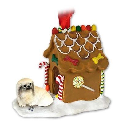 Pekingese Dog Ginger Bread House Christmas ORNAMENT