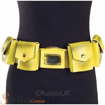 Official Batman Yellow Utility Belt Superhero Fancy Dress Costume Accessory