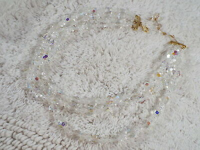 LISNER AB Crystal Three Strand Necklace (D29)