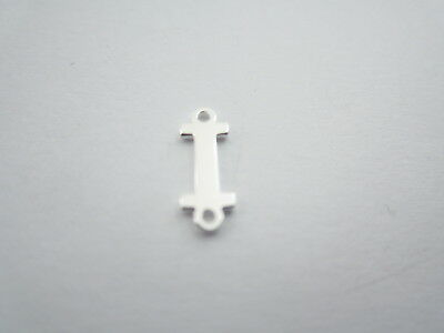 1 connettore 2 fori  lettera I in argento 925 made in italy misure 11 x 4 mm